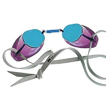 metallic blue swedish goggles