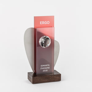 Bespoke glass diamond metal trophy-Awards and medal studio 1