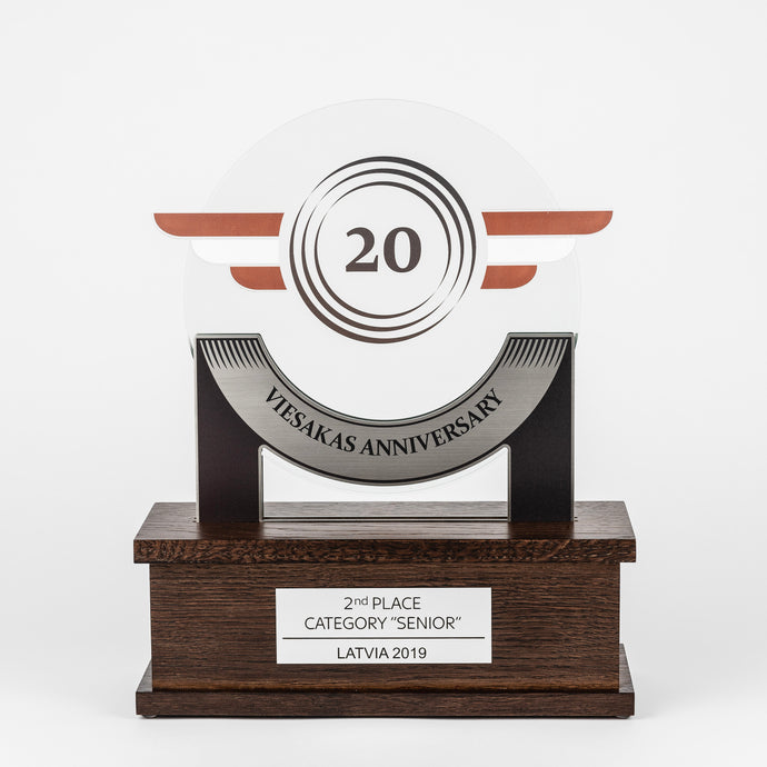 Bespoke glass metal acrylic wood trophy-Awards and medal studio 2