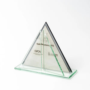 Bespoke glass metal trophy_individual design_Awards and Medal Studio