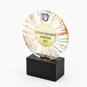 Bespoke round shape acrylic award_Awards and medal studio 3