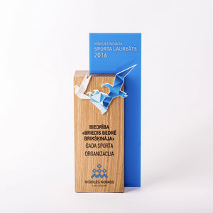 Custom hardwood oak acrylic bagde award-Awards and medal studio 3
