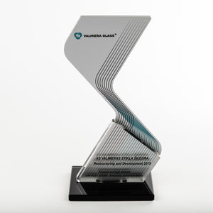 Iconic custom aluminium award_clear acrylic_glass_award_full colour print_Awards and Medal Studio_1