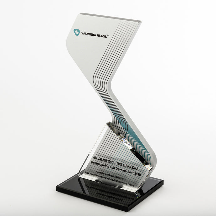 Iconic custom aluminium award_clear acrylic_glass_award_full colour print_Awards and Medal Studio
