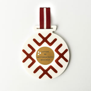 Custom bowling medal_Meganite surface_gold plated rowmark_personalised engravings_Awards and Medal Studio