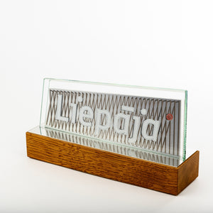 Classic glass metal award_wood base_full colour print_Awards and Medal Studio 1