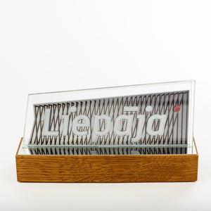 Classic glass metal award_wood base_full colour print_Awards and Medal Studio