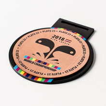Load image into Gallery viewer, Custom Bronze metal medal with full colour print_unique design_Awards and Medal Studio