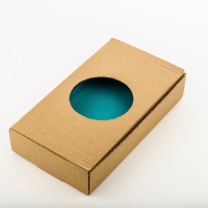 Custom wood-resin art award with personalised engraving_cardboard box_Awards and Medal Studio 3