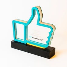 Load image into Gallery viewer, Custom acrylic aluminium trophy with diodes_Awards and medal studio 2