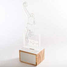 Load image into Gallery viewer, Laser cut acrylic trophy with UV digital print