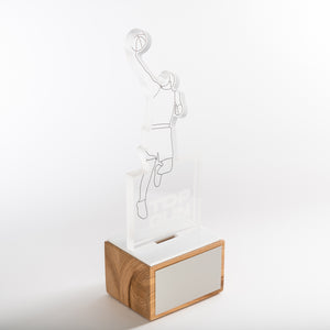 Custom design basketball trophy