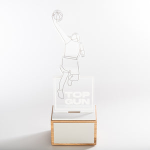 Stunning acrylic sports trophy