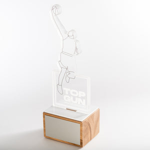 Laser cut acrylic trophy with UV digital print