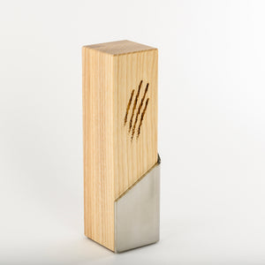 Custom communication award_stainless steel wood award with laser engraving and UV digital print_custom design_Awards and Medal Studio_2