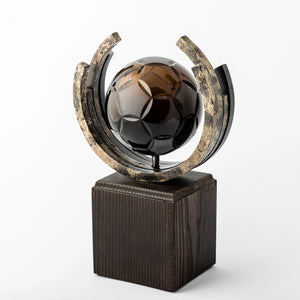 Football eco friendly custom crystal forged metal trophy_Awards and medal studio 1