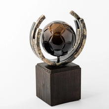 Load image into Gallery viewer, Football eco friendly custom crystal forged metal trophy_Awards and medal studio 2