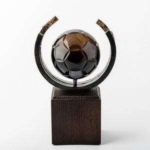 Football eco friendly custom crystal forged metal trophy_Awards and medal studio 3