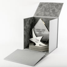 Load image into Gallery viewer, Special custom awards for the World Cup of Tennis_Acrylic_polished metal award with full colour print_Custom_gift_box_Awards and Medal Studio