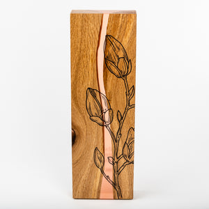 Unique wood and resin award with personalised UV digital print