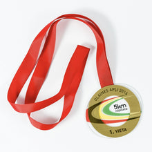 Load image into Gallery viewer, Unique acrylic- metal medal for running half marathon
