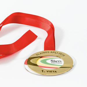 Unique acrylic- metal medal for running half marathon