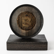 Load image into Gallery viewer, Unique wood trophy with laser engraved logo