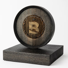 Load image into Gallery viewer, Custom wood trophy with laser engraving