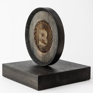 Turned wood trophy