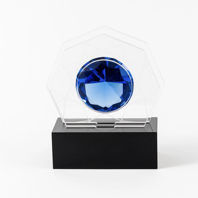 Sophisticated acrylic diamond award RO9 awards and medal studio