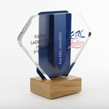 Load image into Gallery viewer, Striking bespoke acrylic aluminium wood award_ digital print_Awards and Medal Studio