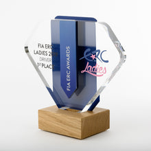 Load image into Gallery viewer, Striking bespoke acrylic aluminium wood award_ digital print_Awards and Medal Studio 2