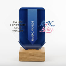 Load image into Gallery viewer, Striking bespoke acrylic aluminium wood award_ digital print_Awards and Medal Studio 1