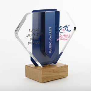 Striking bespoke acrylic aluminium wood award_ digital print_Awards and Medal Studio