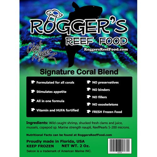Roggers Reef Food Signature Coral Blend 2oz - Vaquatics | Making Reefing Affordable