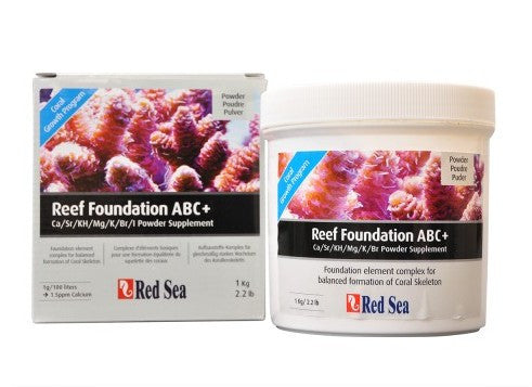 1 kg - Red Sea Reef Foundation ABC+ Powder Supplement - Vaquatics