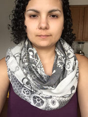 Shiny Star Woven Infinity Scarf - Loop/Infinity Style