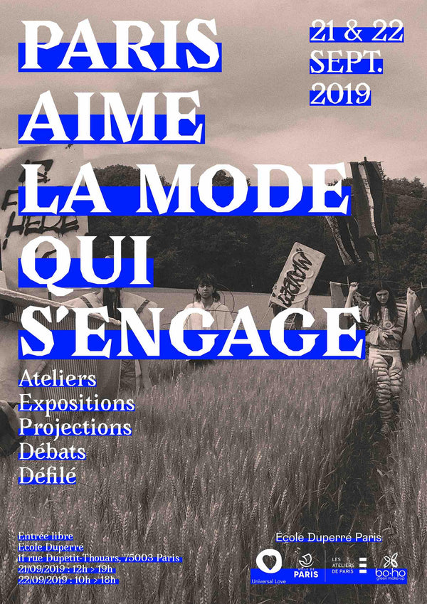 Paris aime la mode qui s'engage ! 21&22 septembre 2019