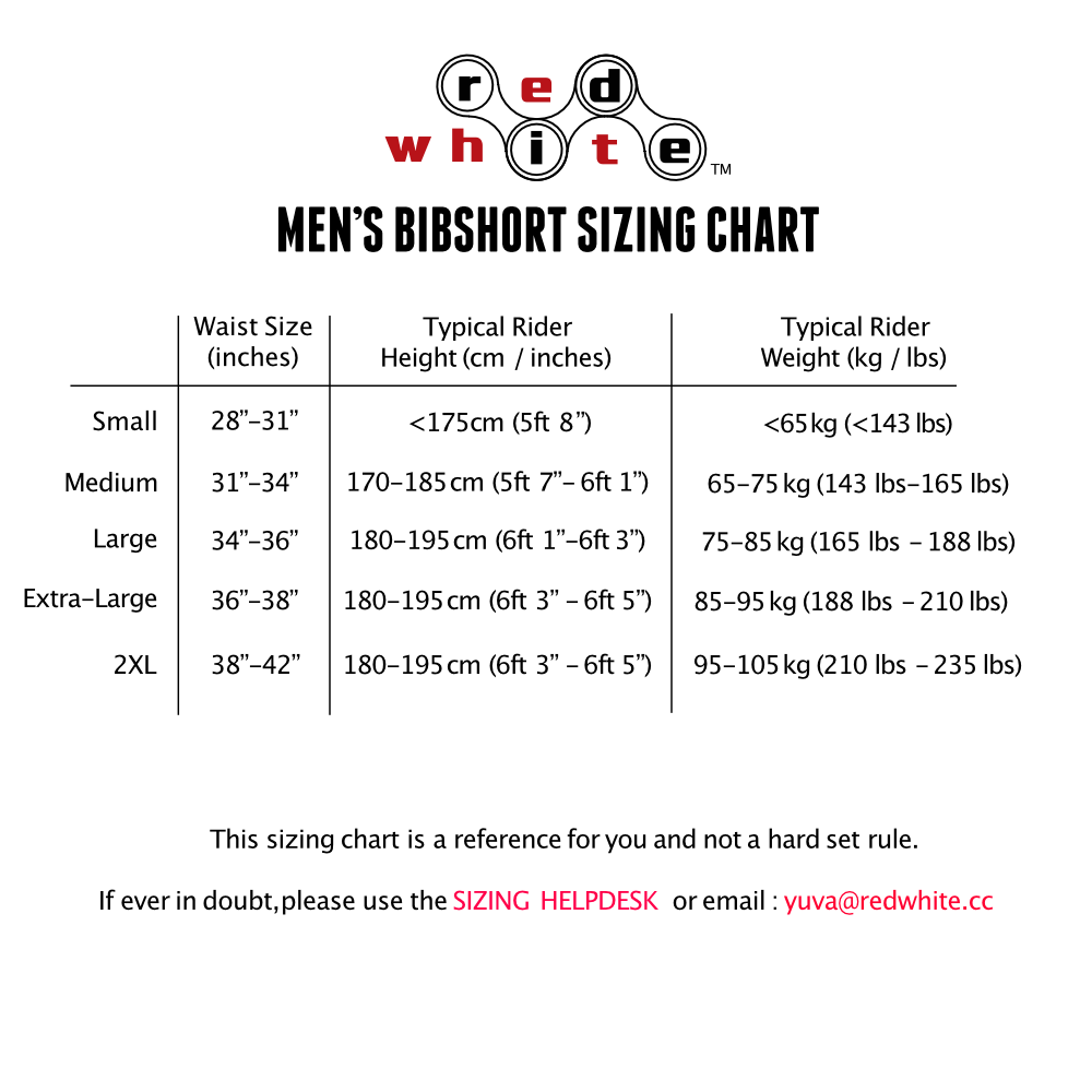 MEN'S BIB SIZING CHART