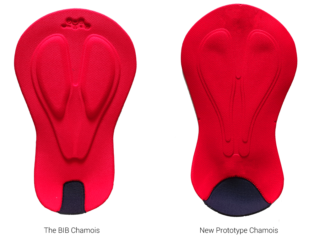 comparison of the top of the chamois