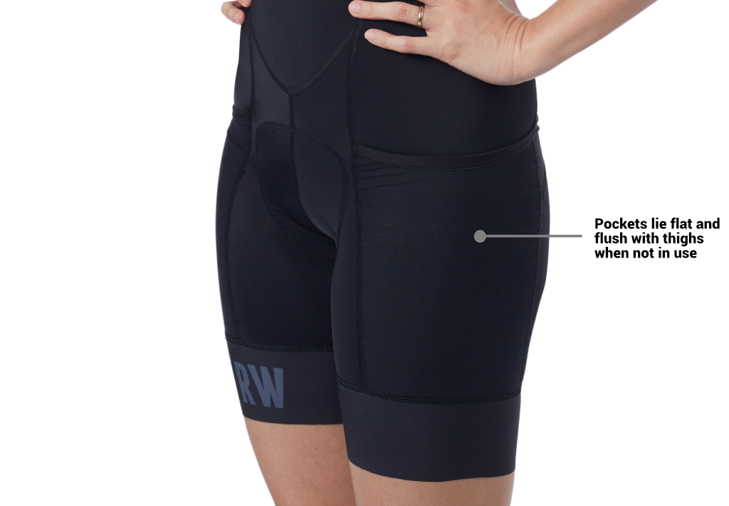 women's cargo bibshort thigh pocket