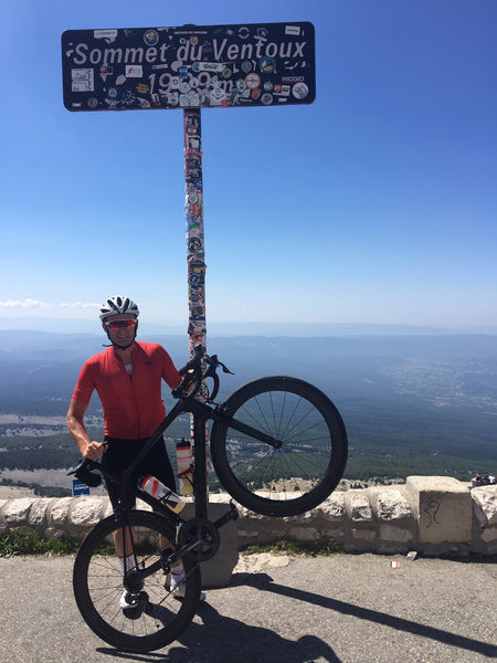 robbie on peak of mt ventoux
