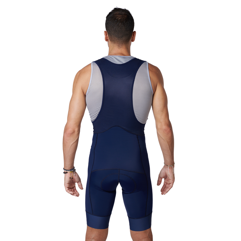 The BIB Navy bibshort back