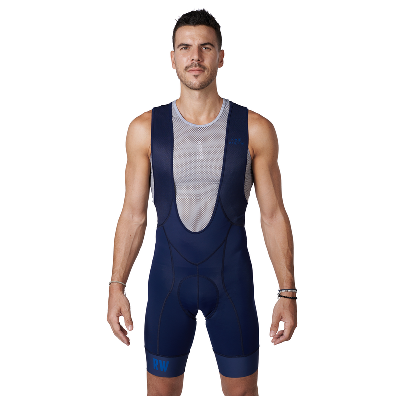 The BIB Navy bibshort front