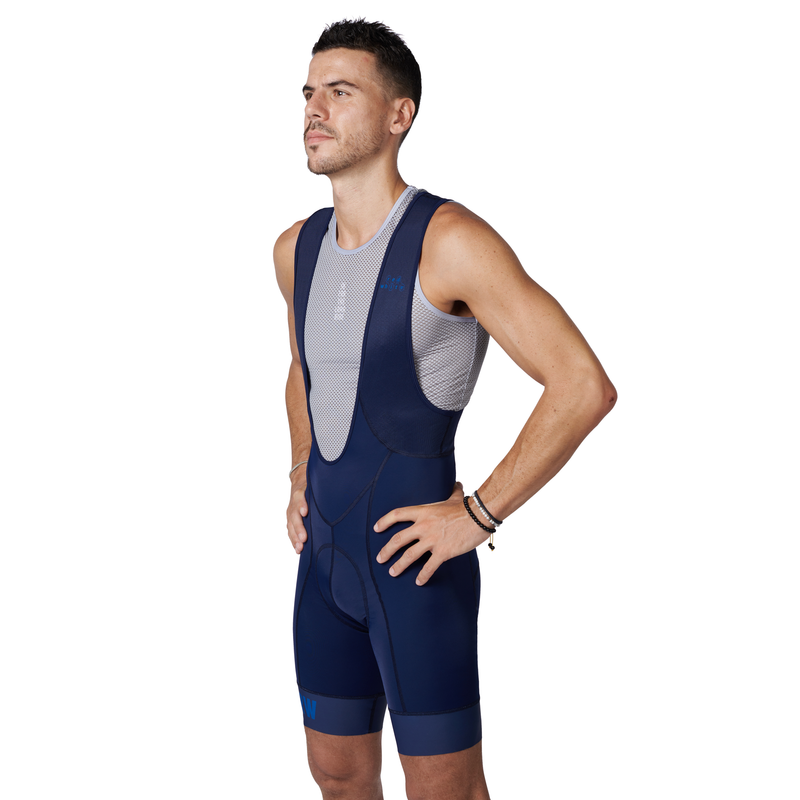 The BIB Navy bibshort side