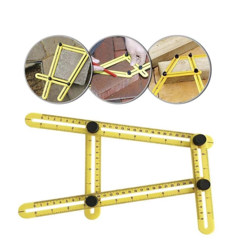 Angle Layout Measuring Ruler - Yellow - Nestzones