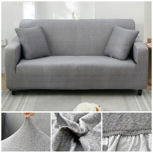 Premium Sofa Cover - 1 Seater : 90-140cm / LIGHT GREY - Awesales
