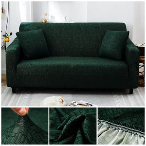 Premium Sofa Cover - 1 Seater : 90-140cm / GREEN - Awesales