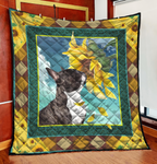 French Bulldog Sunflower Quilt Blanket CCC19102812