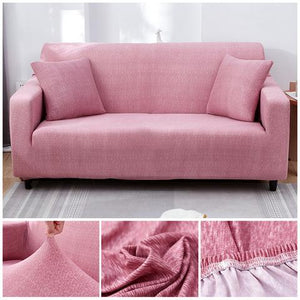 Premium Sofa Cover - 1 Seater : 90-140cm / LIGHT PINK - Awesales